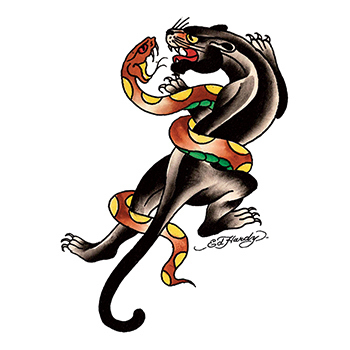 Ed Hardy Panther and Snake Temporary Tattoo