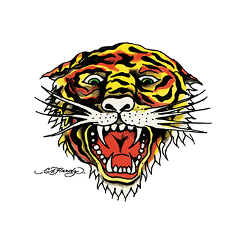 Ed Hardy Tiger Temporary Tattoo