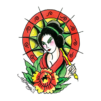 Ed Hardy Geisha Temporary Tattoo