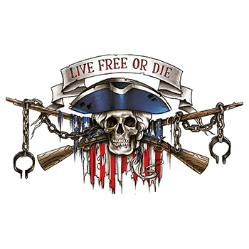 Large Live Free or Die Large Freedom Temporary Tattoo