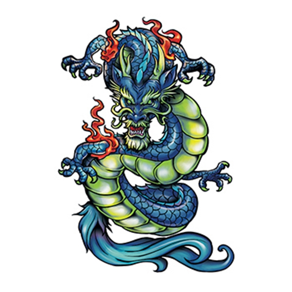 Fierce Chinese Dragon Temporary Tattoo