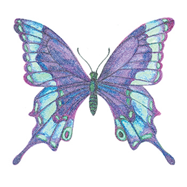 Glitter Shades of Blue Butterfly Temporary Tattoo