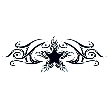 Tribal Star Design Temporary Tattoo 550106587 on ipad usb