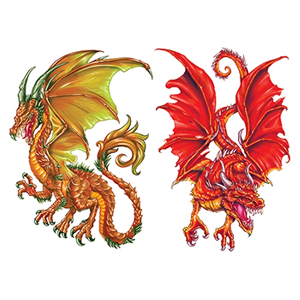 Ormarr Dragons Temporary Tattoo Set
