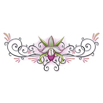 Lower Back Lotus Temporary Tattoo