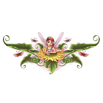 Lower Back Fairy Temporary Tattoo