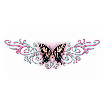 Lower Back Butterfly Temporary Tattoo