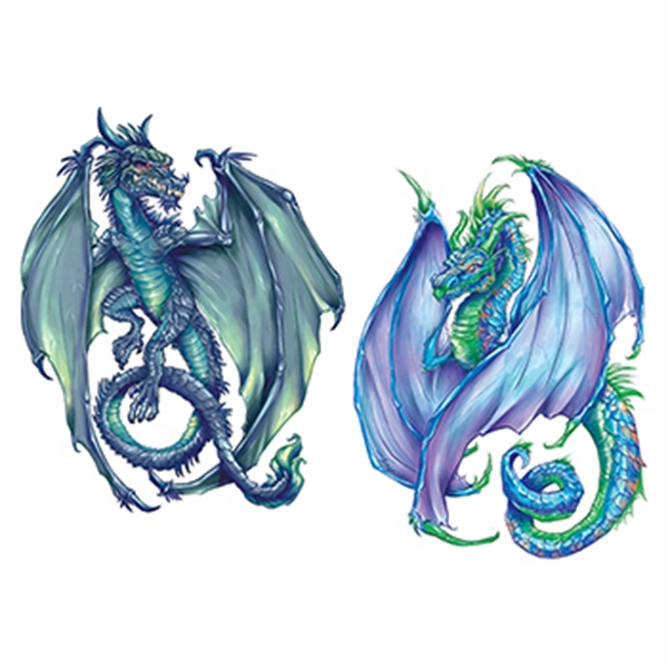 Coatl Dragons Temporary Tattoo Set