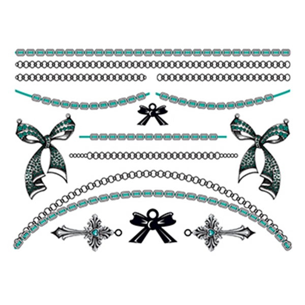 Bold in Bows: Bluestone Temporary Tattoo Jewelry Set