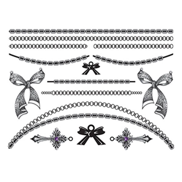 Bold in Bows Temporary Tattoo Jewelry Set