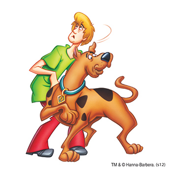 Warner Brothers: Scooby and Shaggy Temporary Tattoo