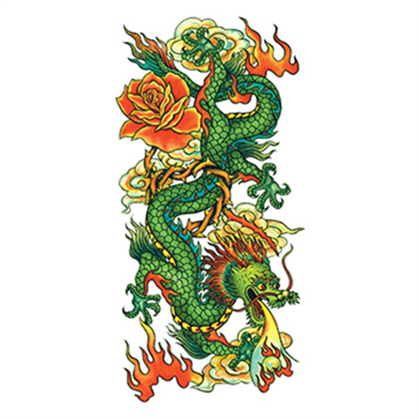 Traditional Chinese Dragon Temporary Tattoo
