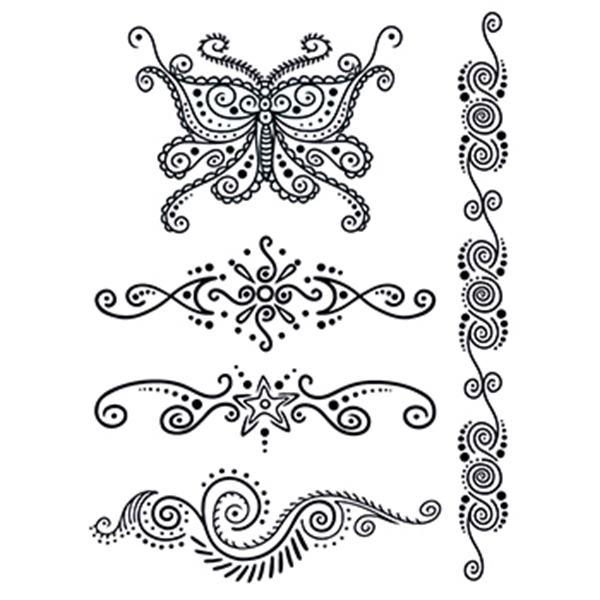 Henna: Mystery Temporary Tattoo Set