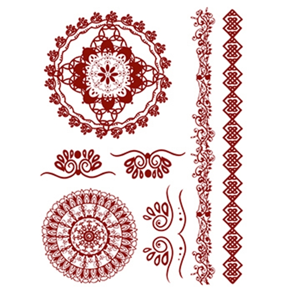 Henna: Classic Temporary Tattoo Set