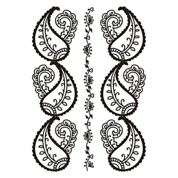Henna: Black Lower Back Temporary Tattoo
