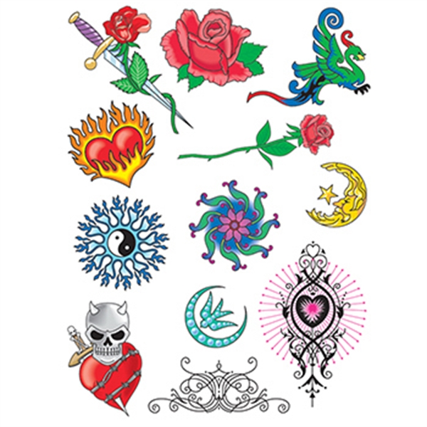 Fire and Ice Set of Temporary Tattoos
