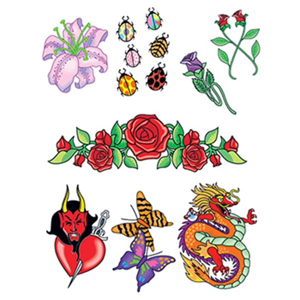 Night Out Set of Temporary Tattoos