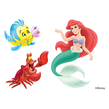 Little Mermaid: Ariel and Friends Temporary Tattoos - GOimprints - photo#42