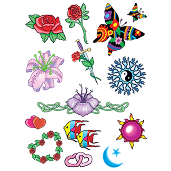 Celestial Nature Set of Temporary Tattoos