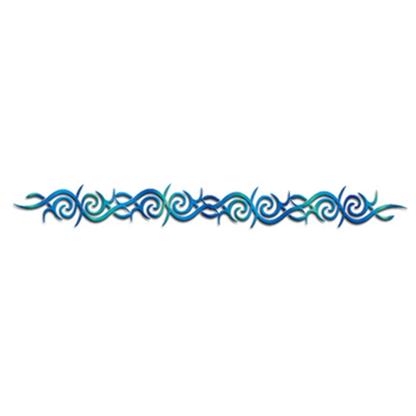 Blue Tribal Band Temporary Tattoo