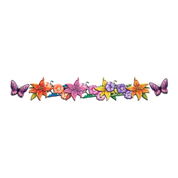 Butterflies and Flowers Band Temporary Tattoo