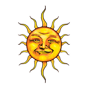 Sun Temporary Tattoo