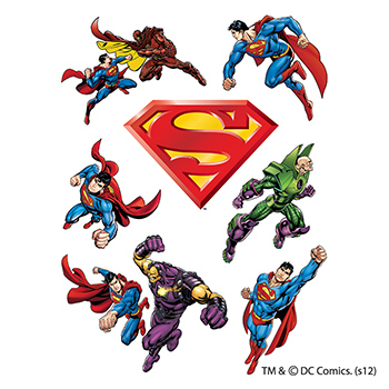 Warner Brothers: Superman Temporary Tattoo Assortment Sheet