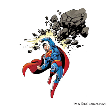 Warner Brothers: Superman Comet Cruncher Temporary Tattoo