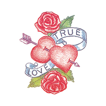 True Love Heart Temporary Tattoo