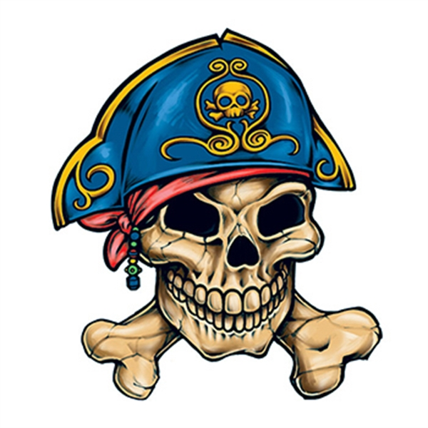 Pirate Skull and Crossbones Temporary Tattoo
