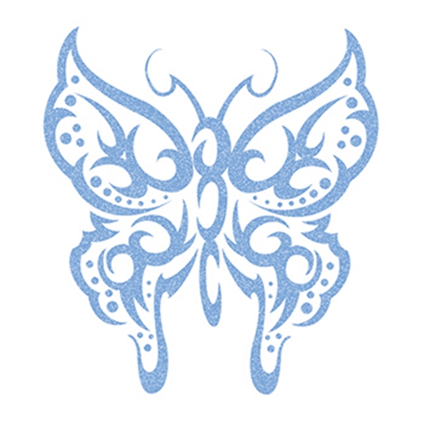 Glitter Light Colored Butterfly Temporary Tattoos