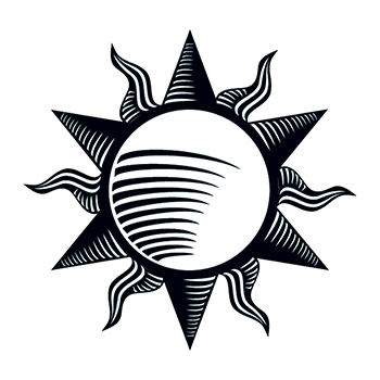 Tribal Sun Temporary Tattoo