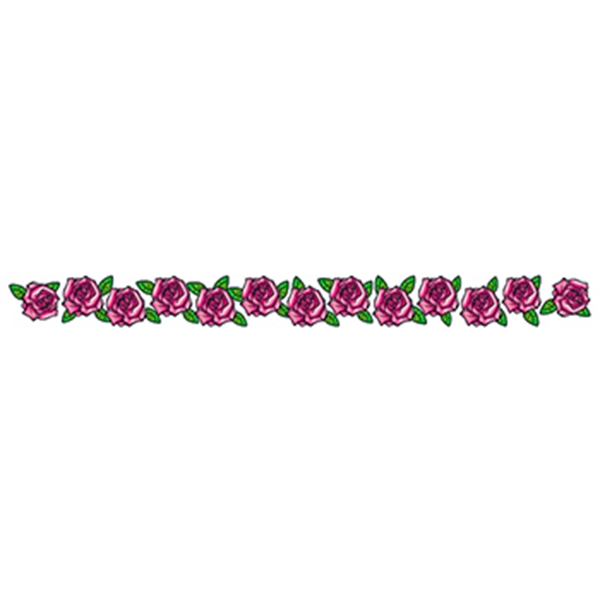 Band of Pink Roses Temporary Tattoo