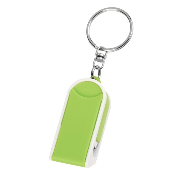 Phone Stand And Screen Cleaner Combo Keychain - GOimprints