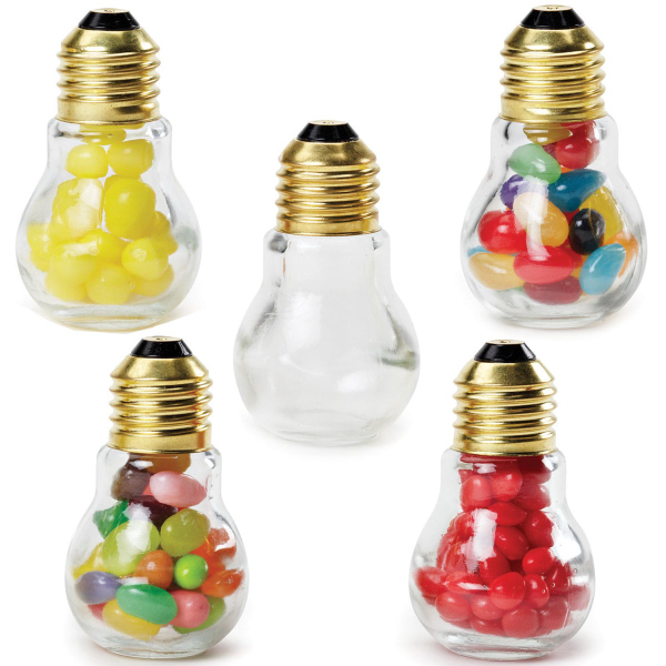 Mini Light Bulb Glass Jar Empty