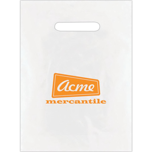 Small Frosted Die Cut Bag