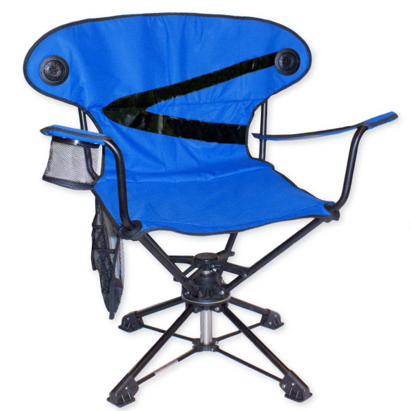 Brentwood 360 Swivel Camp Chair With Speakers