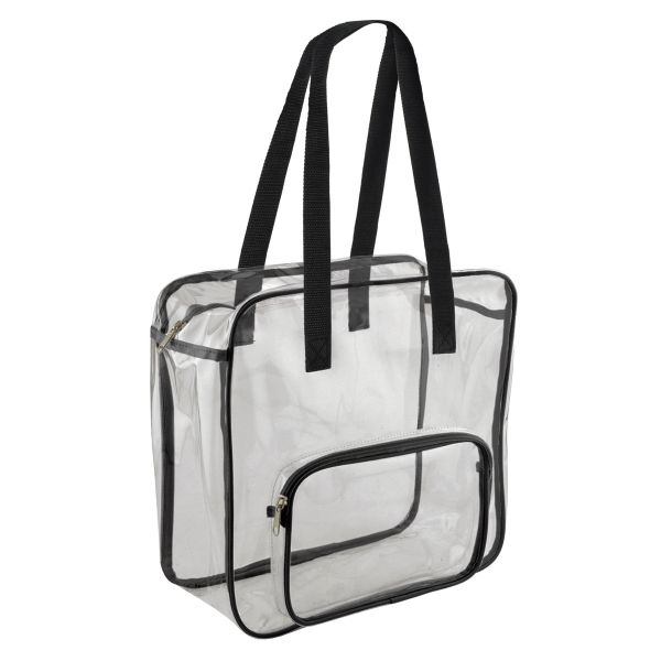 Valubag Small Zippered Clear Tote Bag - GOimprints