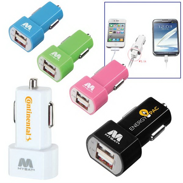 Dual USB Car Charger (1A  & 2.1A output)