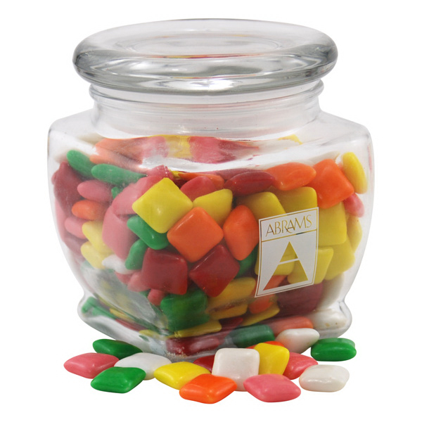 Mini Chicklets Gum in a Large Glass Jar with Lid