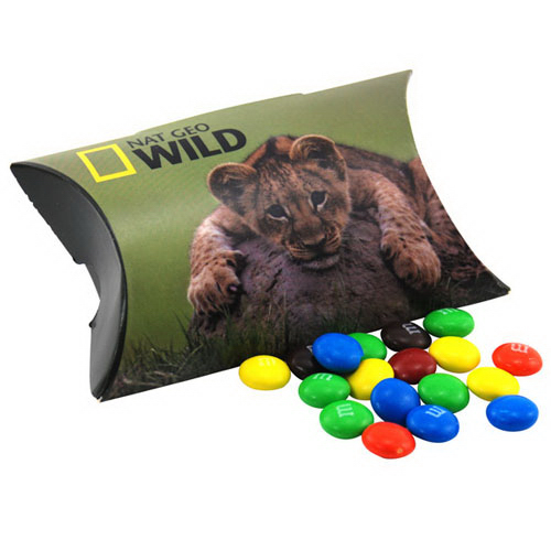 Pillow Box Promo Pack with M&M's Candy
