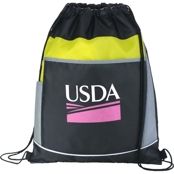 The Highway Drawstring Cinch Backpack