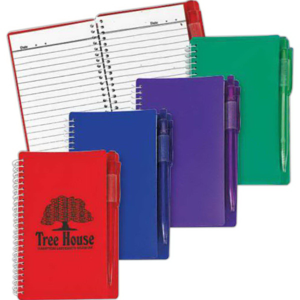 Spiral Notebook With Pen-Blank