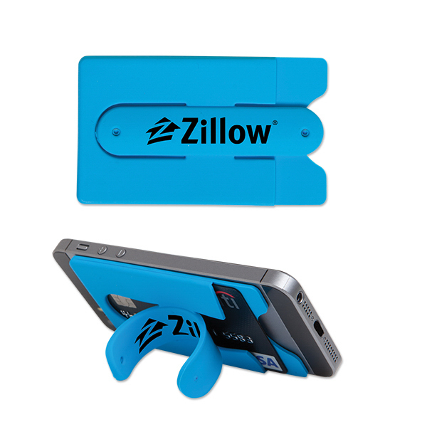 Silicone Phone Pocket with Snap Stand
