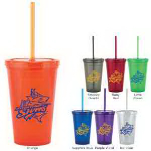 Bolero 16 oz Tumbler with Straw