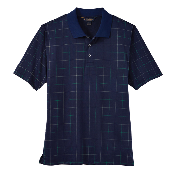 Brooks Brothers Men's Performance Window Pane Jersey Polo