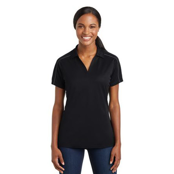 Sport-Tek (R) Ladies Micropique Sport-Wick Piped Polo