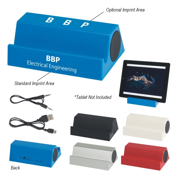 Bluetooth Speaker with Tablet Stand