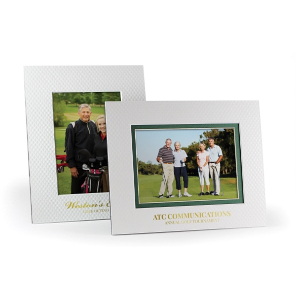Golf Ball Texture Photo Frame - Single Mat - GOimprints