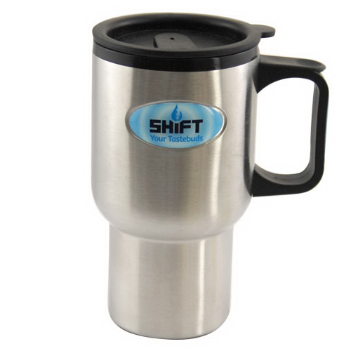 Stainless Steel Travel Mug 16 oz with Full Color Dome